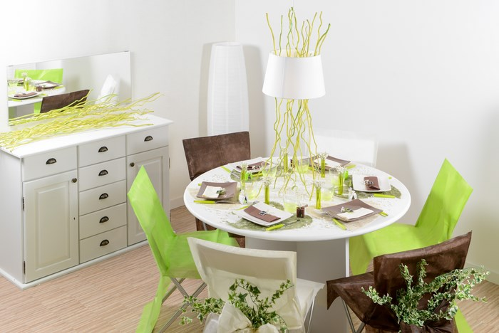d coration de table sur le th me du jardin articles de f te. Black Bedroom Furniture Sets. Home Design Ideas