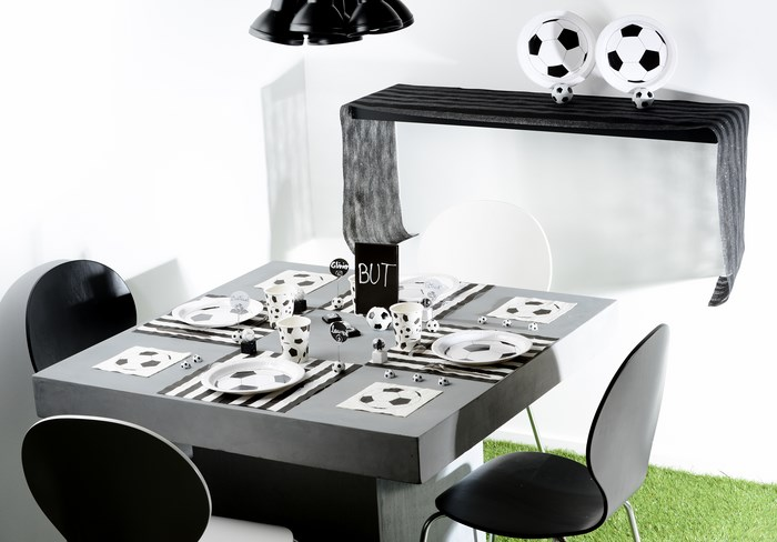 d coration de table sur le th me du football articles de f te. Black Bedroom Furniture Sets. Home Design Ideas