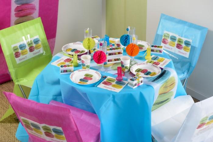 d coration de table sur le th me macarons cupcake articles de f te. Black Bedroom Furniture Sets. Home Design Ideas