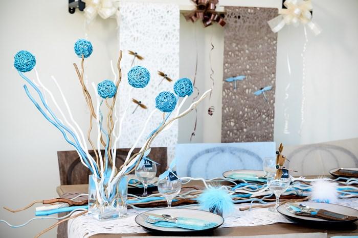 Decoration De Table Sur Le Theme Libellules Et Papillons Articles De