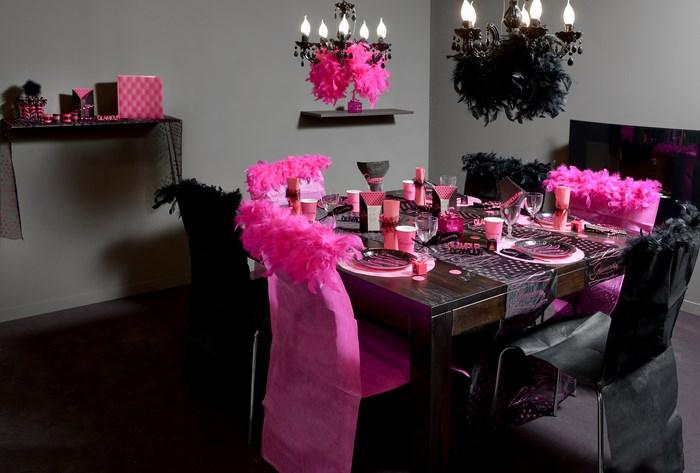 Décoration de table sur le thème Glamour Articles de fête
