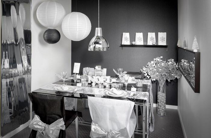 d corations pour un no l argent articles de f te. Black Bedroom Furniture Sets. Home Design Ideas