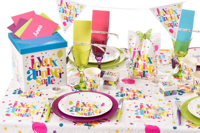 D coration de table sur le th me joyeux anniversaire - Articles de table ...