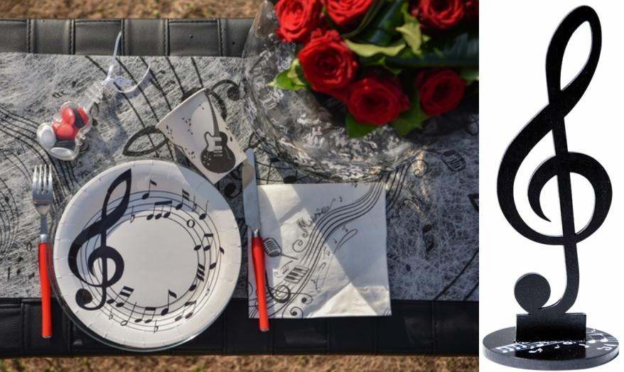 Decoration De Table Sur Le Theme De La Musique Articles De Fete