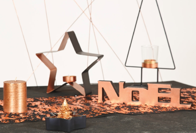 d corations pour un no l cuivr articles de f te. Black Bedroom Furniture Sets. Home Design Ideas