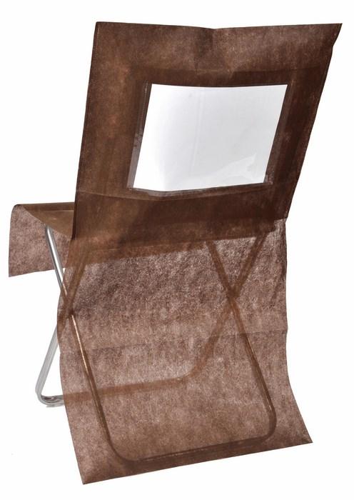 SANTEX 3619 14, Lot de 10 Housses de chaise personnalisées , chocolat
