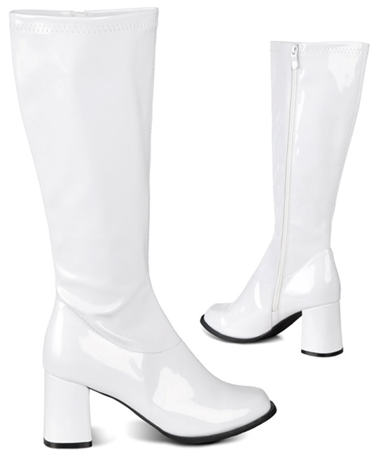 Bottes disco BLANCHES T39