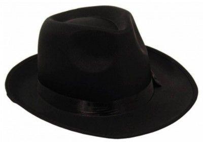 Chapeau Borsalino tissu luxe noir