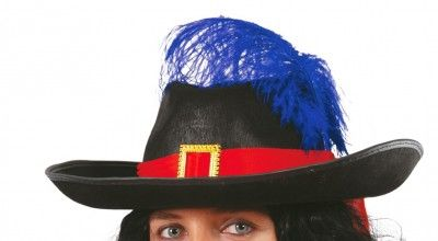 Chapeau Dartagnan mousquetaire adulte avec plume