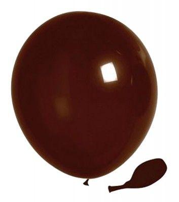 Sachet 25 ballons Opaques 25cm, Chocolat 25cm
