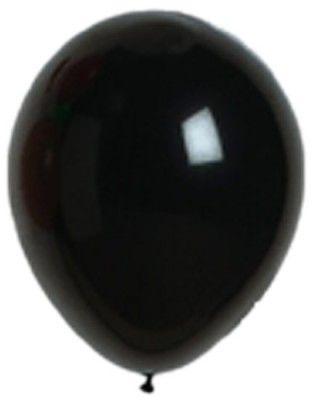 Sachet 25 ballons Opaques 25cm, en Noir 25cm