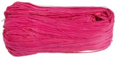 Bobine de raphia rose fuchsia de 50 gr