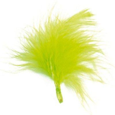 Sachet de 20 plumes vert anis