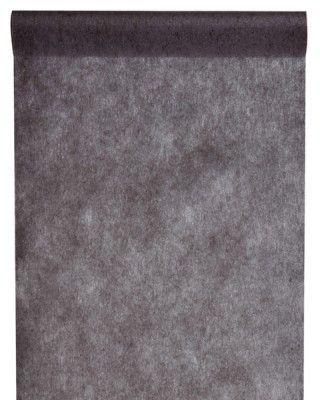 CHEMIN DE TABLE en tissu non tissé - Noir