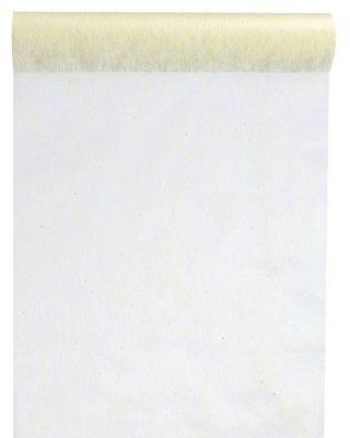 CHEMIN DE TABLE en tissu non tissé - ivoire