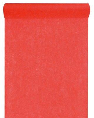 CHEMIN DE TABLE en tissu non tissé - Rouge