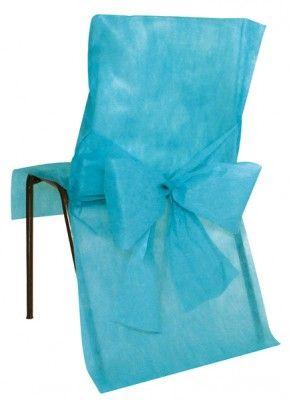 Lot 10 HOUSSES DE CHAISE en t.n.t., bleu Turquoise