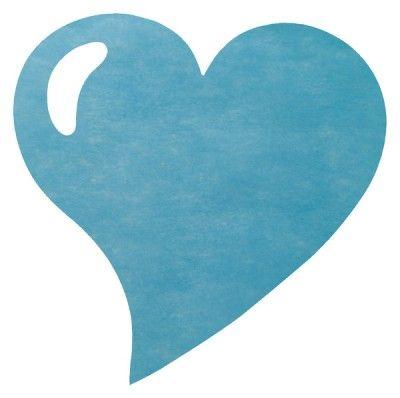 Paquet 50 SETS DE TABLE Coeur, bleu turquoise