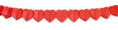 Guirlande Coeur rouge 4 m