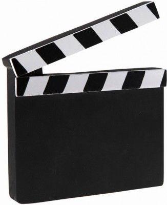 Clap cinéma Marque-Table en bois épais, fixe 13,5cm