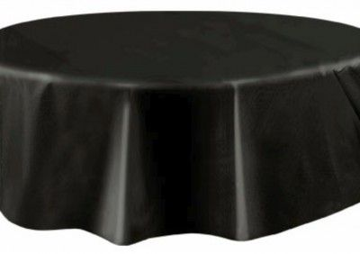 Nappe plastique ronde Ø, en NOIR