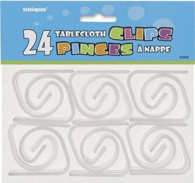 Lot de 24 pinces à nappe
