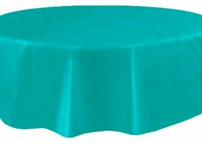 Nappe plastique ronde Ø bleue turquoise