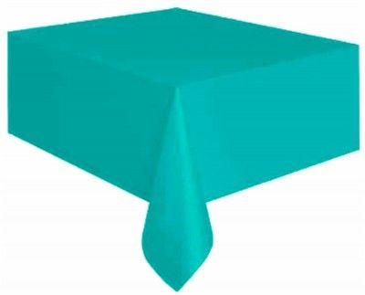 Nappe plastique rectangle bleue turquoise