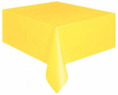 Nappe plastique rectangle jaune