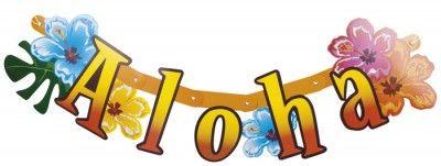 Guirlande de lettres ALOHA décorée 83cm