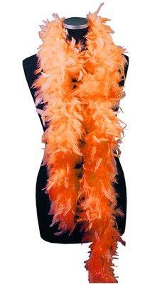 Boa en plumes, orange 1m80