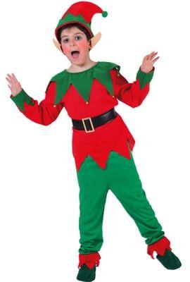 Déguisement Elfe-Lutin Noël unisexe 7-9 ans