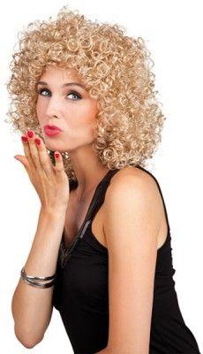 Perruque frisé blond