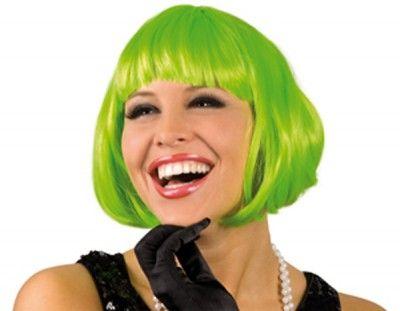 Perruque carrée verte