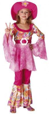 Déguisement Hippie Diva ROSE, 4-6 ans