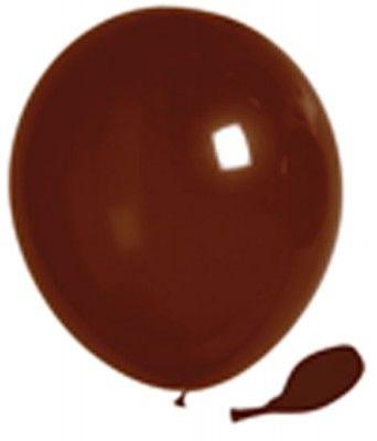 100 ballons nacrés, 30 cm, chocolat