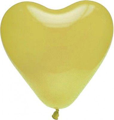 Lot de 8 ballons COEUR 35cm ivoire
