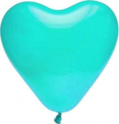 Lot de 8 ballons COEUR 35cm turquoise