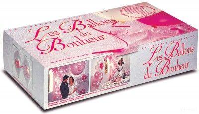 Coffret luxe 251 ballons Les Ballons Du Bonheur, Rose et blanc