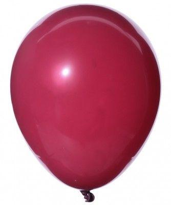 Sachet 25 ballons Opaques 25cm, Bordeaux 25cm