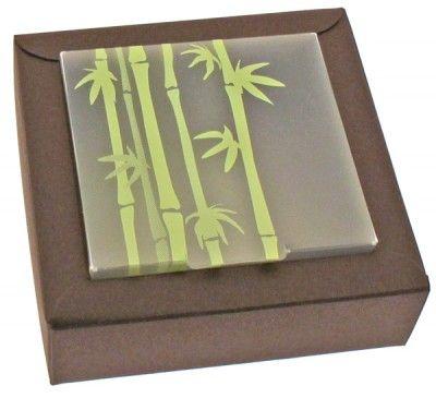 Ballotin carton Nina CHOCOLAT, avec plexi bambou