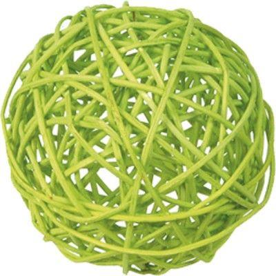 Sachet 10 boules en rotin vert anis
