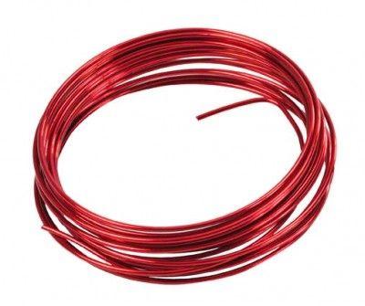 Fil aluminium souple 5m, rouge
