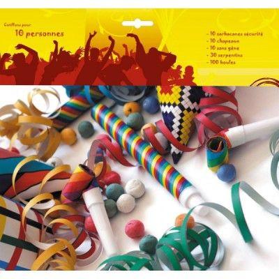 KIT Cotillons 10 personnes multicolores