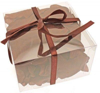 100 Pétales de rose synthétiques, chocolat