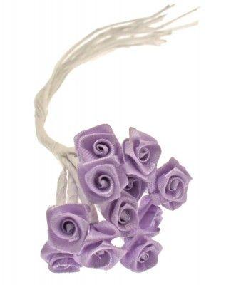 Sachet de 72 mini-roses satin (6 x 12 FL520) - Parme