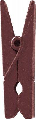 Sachet de 12 PINCES Chocolat - 3,5cm
