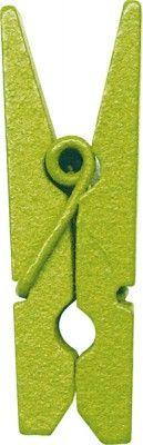 Sachet de 12 PINCES Vertes - 3,5cm