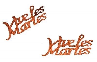 Confettis de table, VIVE LES MARIES chocolat