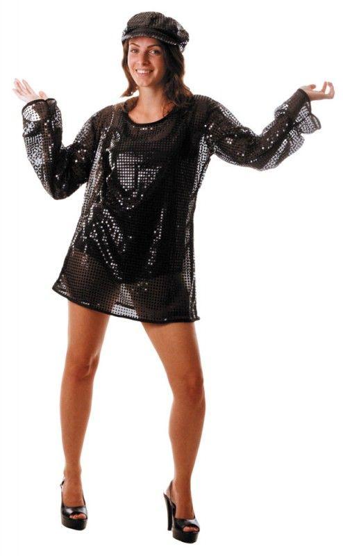 Party Pro 865091703 Robe Disco Paillette Noire Adulte Articles De Fete Decoration Mariage Deco De Table Anniversaire